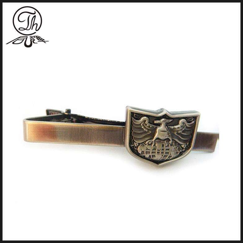 Engraved tie necktie clip holder