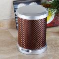 Poubelle cylindrique PU Brown (C-9LD)