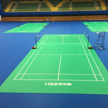 Bärbar Badminton Court Mat-Zipper tech