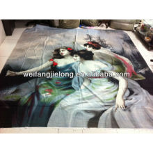 3D Panel Print Polyester Fabric for Bedding