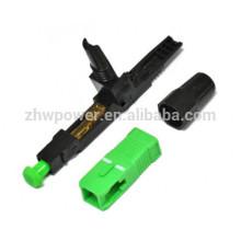 Connecteur rapide à fibre optique, connecteur rapide sc apc, connecteur fibre optique sc upc pour câble de sortie FTTH