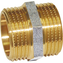 Brass Straight Copuling Nipple Fitting (a. 0208)