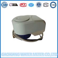 Compteur d'eau câblé à distance à distance en laiton avec vanne contrôlable (DN15-DN25)