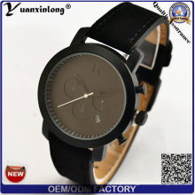 Yxl-117 New Arrival Wrist Watch Genuine Leather Stainless Steel Watches Gift Custom Fashion Men Watches Clock Chronograph Automatic Date Watch