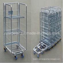 Caixa de arame de aço exportada com espaço exportado para armazenamento de rolamentos móveis