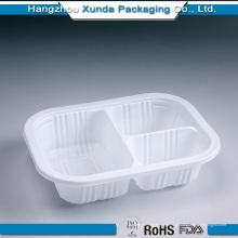 Bandeja plástica personalizada do alimento Grade para o alimento com 3 compartimento