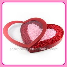 Valentin romantique rose savon fleurs cadeau