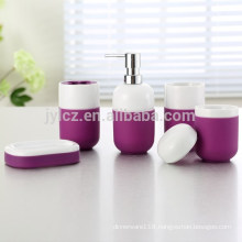 bathroom set with silicone, set of 5, wholesale bathroom set