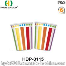 Taza de papel desechable de café de una sola pared de Rainbow Color (HDP-0115)