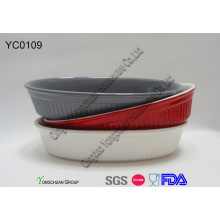 Colorful Oval Baking Dish Set