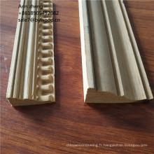 bâti de corniche de plafond en bois de teck moulant la couronne moulant pour le bâti de plafond en bois de pin