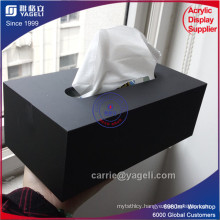 Wholesale Custom Black Acrylic Tissue Paper Box