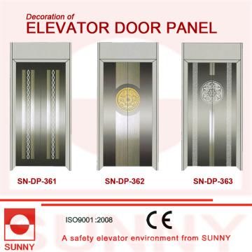 Вогнутая зеленая дверная панель из нержавеющей стали для отделки кабины лифта (SN-DP-366)
