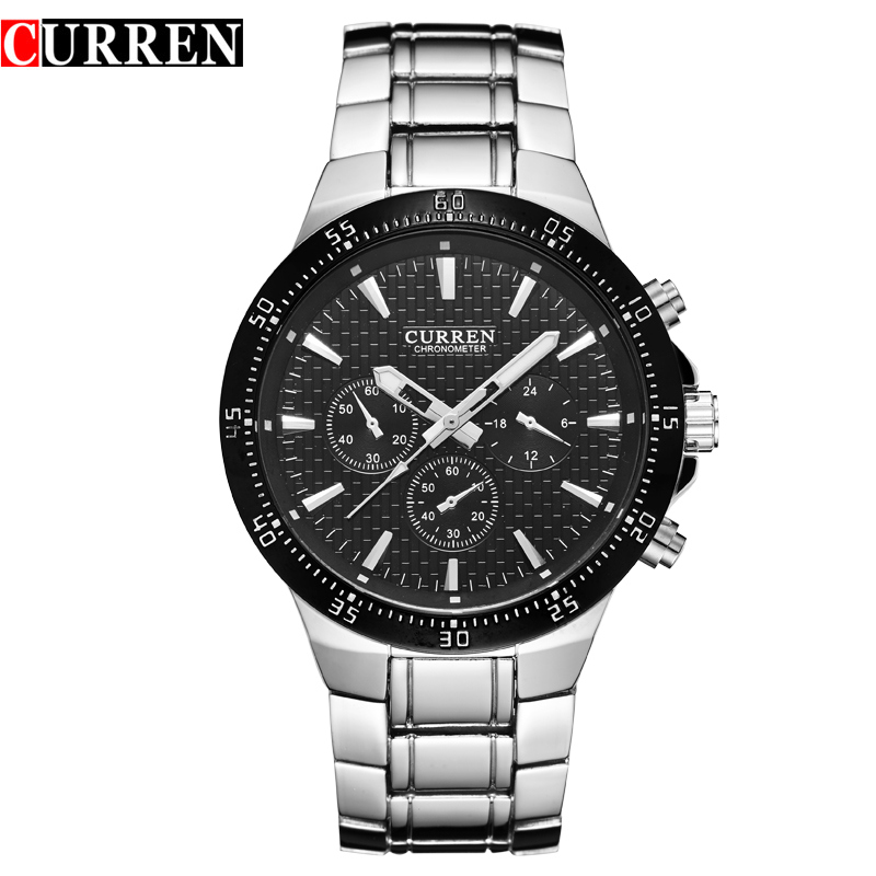 Fashion Stainless Steel Sport Men Watches Waterproof