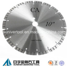 "10"" Concrete Saw Blade, Laser Welding, Cut off Saw Blade"