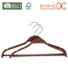 Slimline Laminated Wood Hanger pour costumes de mode