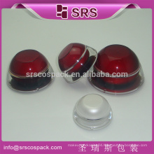 srs 5g 15g 30g 50g cosmetic cream container plastic , luxury cosmetic jar plastic, plastic cosmetic packaging cream jar