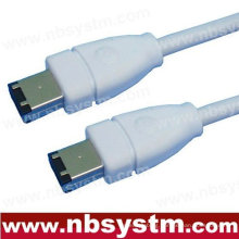 6 to 6 PIN IEEE 1394 FIREWIRE iLINK CABLE 6FT PC MAC DV