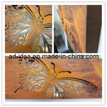 Большие Лазерная резка Бабочка ржавчины световой короб настенный Декор (гар-005)