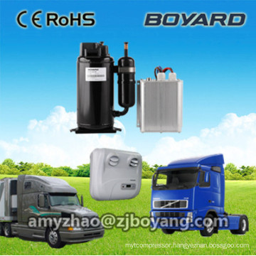 hermetic rotary bldc solar power r134a dc compressor for dc powered 12/24v truck sleeper air conditioner