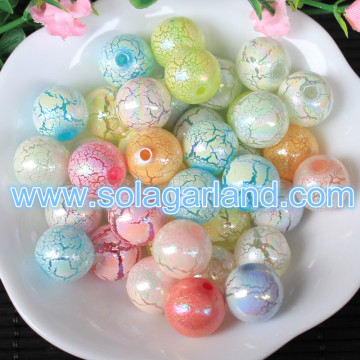 New Arrive 8-16MM Acrylic Crack Pearl Beads Acrylic Loose Spacer Beads Charms