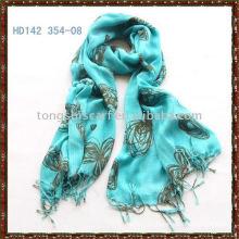 Factory printed viscose scarf