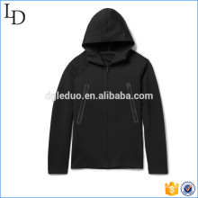 Super confortável flex knit equipado hoodies mens zip-up hoodies jaqueta