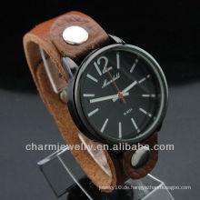 2014 Paar Leder Uhr Hochwertige Leder Uhren Marken WL-029