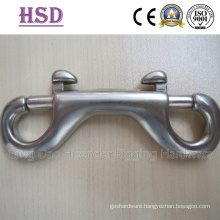 Double Eye End Snap Hook, Stainless Steel 316, Stainless Steel 304