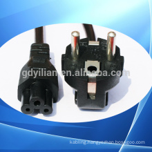 pvc&rubber household appliances Eu power plug VDE standard power plug/power cord