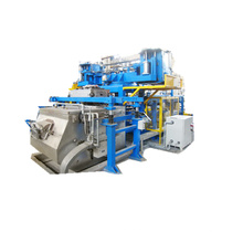 Uma linha de maquinário de fundição sob baixa pressão
