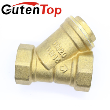 Gutentop High Quality Female Thread Brass Y Type Strainer Fitting SS304 Filter DN20