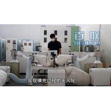 Máquina de enchimento automática de travesseiros de pena de pluma