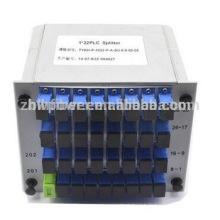 1x32 Fibre PLC Splitter em Mini plug-in Tipo, 1x32 LGX tipo fibra óptica divisor para FTTH FTTB FTTX Rede