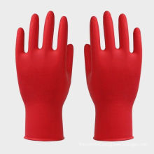 Custom Beaded Cuff Children Red Latex Gloves Also Suit Kids Protective