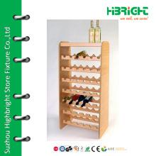 Wood flooring wine display stand