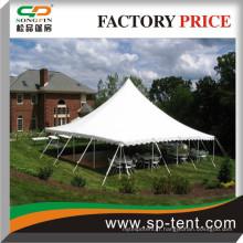 Pas cher En vente Plateau à 100 places Tente à corde et pote 40x40 avec drap blanc