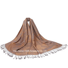 Fashion Ladies Cotton Shawl Scarf with Tassels