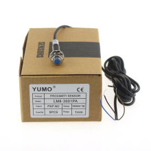 Yumo Lm8-3001PA Series M8 Mini Cylinder Inductance Proximity Switch Sensor
