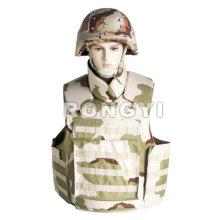 Militar jaqueta à prova de bala