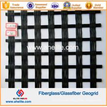 100kn/Mx100kn/M Fiberglass Geogrids Coated with Asphalt Bitumen