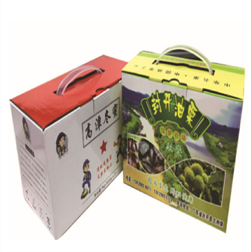 Corrugated Paper Portable Color Box Packing