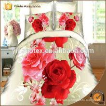 2016 Fashion 3D ROSE постельное белье устанавливает комплекты постельных принадлежностей хлопка постельных принадлежностей