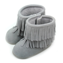 Wholesale Winter Suede Leather Baby Tassels Boots