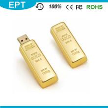 Newest Design Golden USB Flash Drive Pen Drive 8GB 16GB Gold Bar USB 2.0 Flash Memory Pendrive