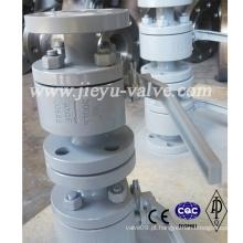 Válvula de esfera de flange forjado para óleo de óleo de água