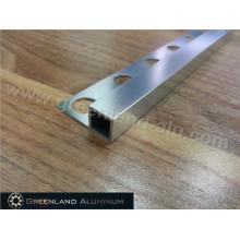 Alumínio borda quadrada Trim para azulejo com cor prata brilhante
