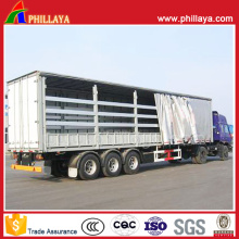 3 Axles Wing Open Van Curtain Side Semi Trailer
