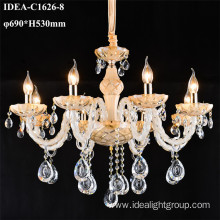 tiffany crystal lamp candle chandelier lighting