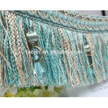 Franja de cepillo de moda para cortina fabricante